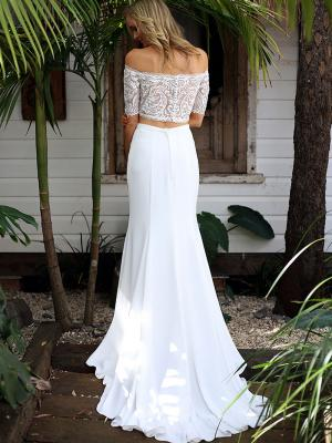 SAGE 5 two piece crepe and lace fitted wedding dress Madi Lane Luv Bridal Gold Coast Australia