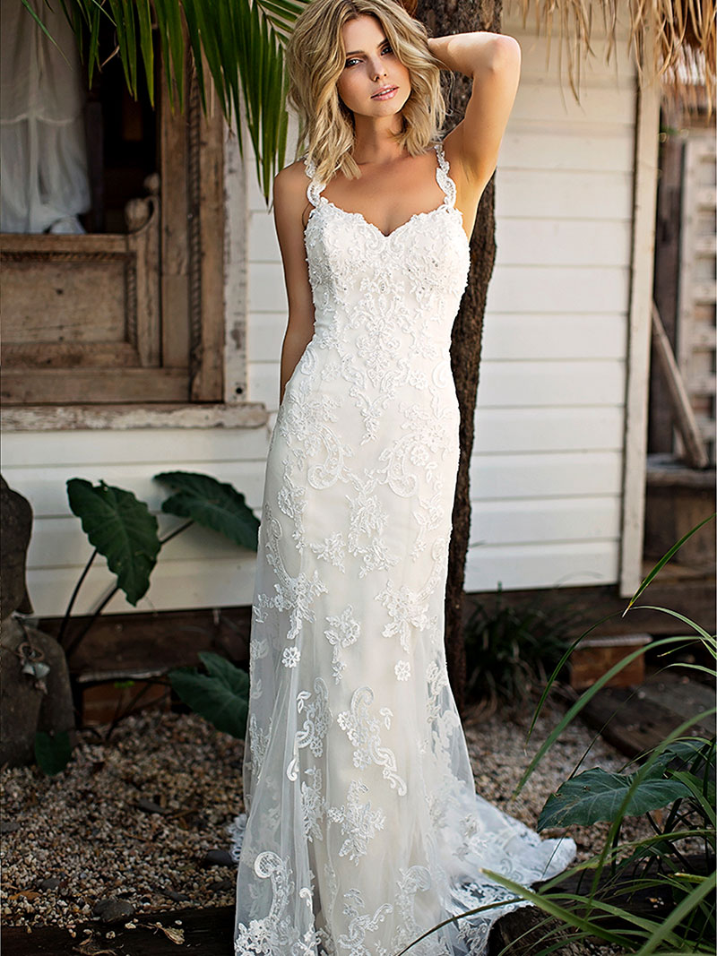 Shantelle wedding dress luv bridal formal for Lace low back wedding dress