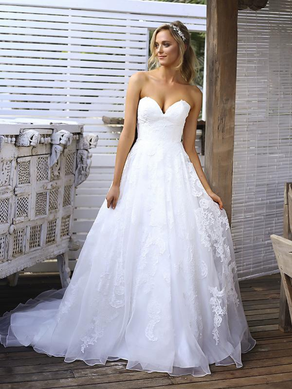 SIAN 1 strapless sweetheart low back wedding dress Madi Lane Luv Bridal Brisbane Australia