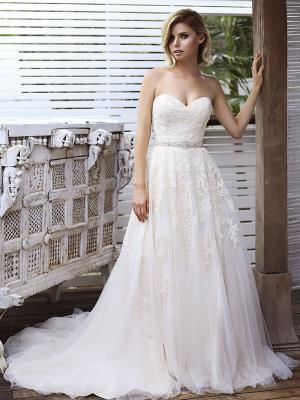 SONIA 1 lace and tulle strapless sweetheart ballgown wedding dress Madi Lane Luv Bridal Brisbane Australia