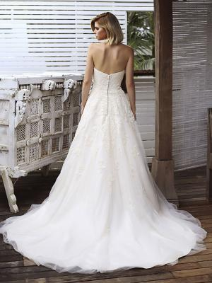 SONIA 2 button back lace and tulle ballgown wedding dress Madi Lane Luv Bridal Adelaide Australia