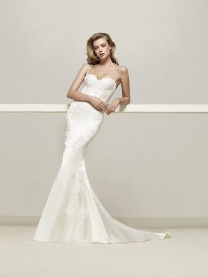 DRENS Pronovias Luv Bridal Australia stretch lace satin silk fitted wedding dress