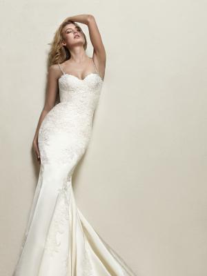 DRENS glam Pronovias Luv Bridal Australia stretch lace satin silk fitted wedding dress