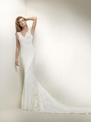 DRUSILA Pronovias Luv Bridal Australia full lace v neck wedding dress