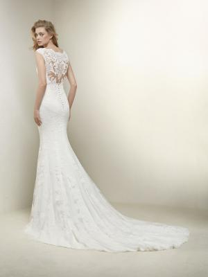 DRUSILA detailed back Pronovias Luv Bridal Australia full lace v neck wedding dress