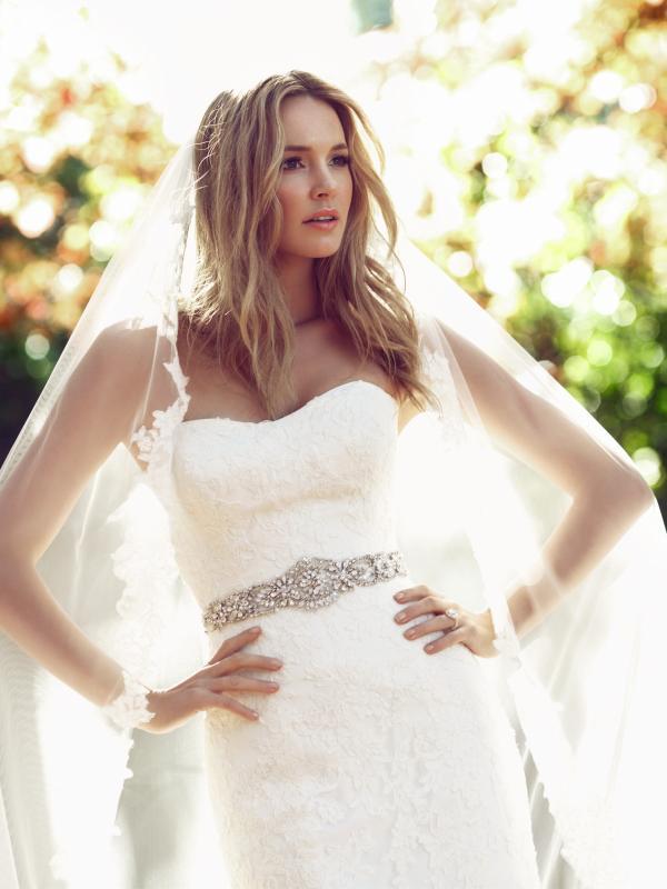 Mia solano belle luv bridal Brisbane Australia wedding dress real bride strapless fitted lace