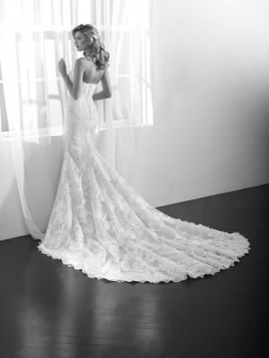 Zamir strapless lace mermaid wedding dress with split St Patrick Luv Bridal Pronovias