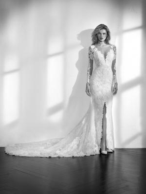 ZANDURI long sleeve lace wedding dress sheer fitted luv bridal st patrick pronovias