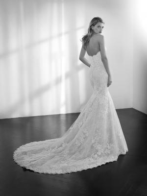 ZELDA strapless sweetheart lace mermaid wedding dress st patrick luv bridal Pronovias