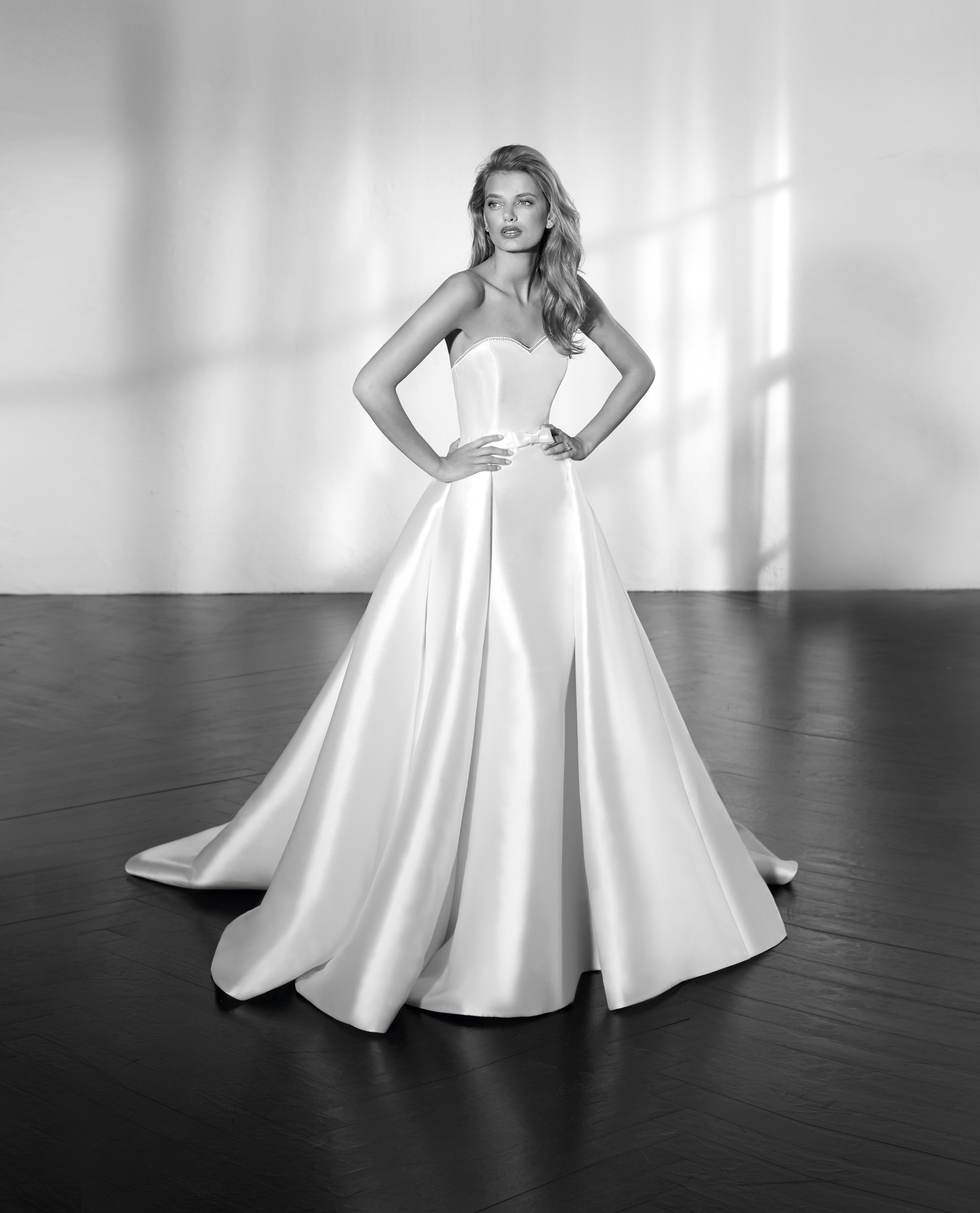 03e598ba06 ZETA detachable mikado silk skirt fitted mermaid wedding dress luv bridal  st patrick Pronovias