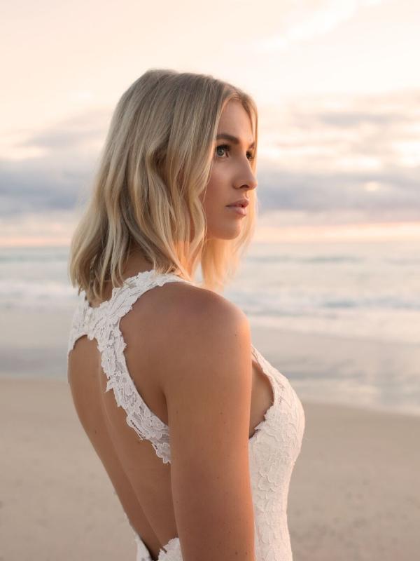 EVITA MADI LANE LUV BRIDAL BYRON BAY AUSTRALIA FULL LACE FITTED WEDDING DRESS 2