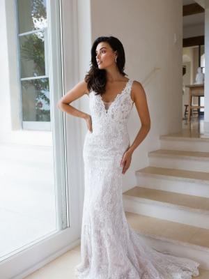 MADI LANE LUV BRIDAL BYRON BAY AUSTRALIAN LACE CREPE TULLE AFFORDABLE WEDDING DRESSES