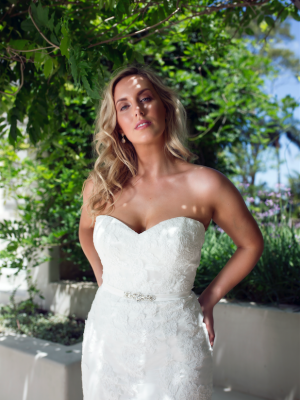 ML3618 ELENA STRAPLESS LACE SWEETHEART FITTED MERMAID TRUMPET WEDDING DRESS MADI LANE BRIDAL GOWN 1