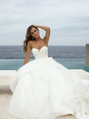 M1872Z Patrice layered ruffle skirt strapless sweetheart ballgown princess wedding dress mia solano luv bridal australia