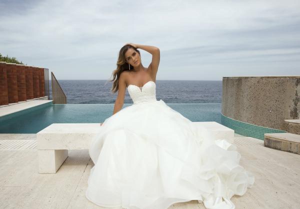 M1872Z Patrice layered ruffle skirt strapless sweetheart ballgown princess wedding dress mia solano luv bridal australia