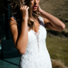 ML3718 RADA LOW BACK ILLUSION PLUNGE V NECK FITTED LACE WEDDING DRESS MADI LANE BRIDAL GOWN