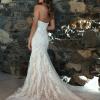ML5618 RAINE DEEP ILLUSION V NECK PLUNGE STRAPLESS LACE WEDDING DRESS MADI LANE BRIDAL GOWN