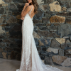 ML7018 RAKEL BEADED LACE STRAP V NECK LOW BACK FITTED WEDDING DRESS MADI LANE BRIDAL GOWN
