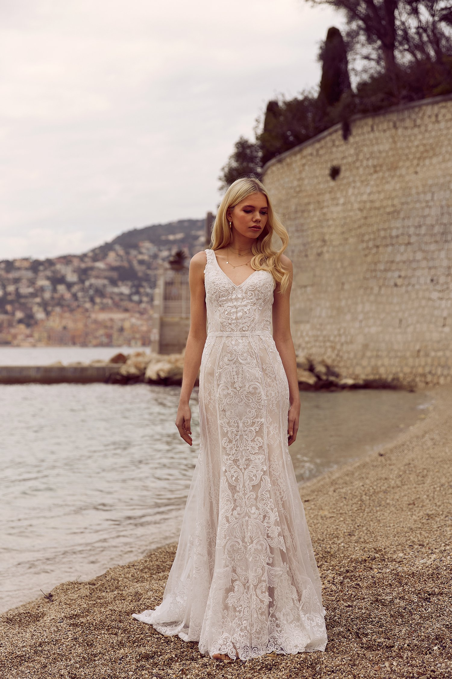 RAYA-ML6818-FITTED-LACE-GOWN-WITH-V-NECK-STRAPS-AND-FULL-LACE-TRAIN-WEDDING-DRESS-MADI-LANE-BRIDAL1