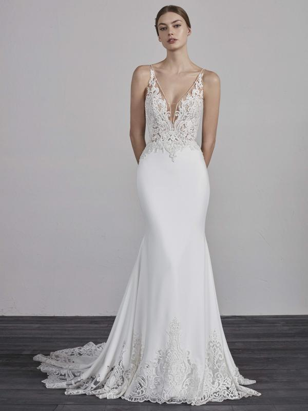 3c75f284ccd ERANDI. View. ESCALA PRONOVIAS 2019 OFF WHITE WEDDING DRESS ...
