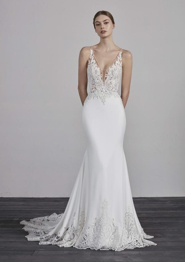 ERANDI PRONOVIAS 2019 OFF WHITE WEDDING DRESS LUV BRIDAL AUSTRALIA