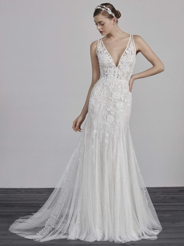 ESTAMPA PRONOVIAS 2019 OFF WHITE WEDDING DRESS LUV BRIDAL AUSTRALIA