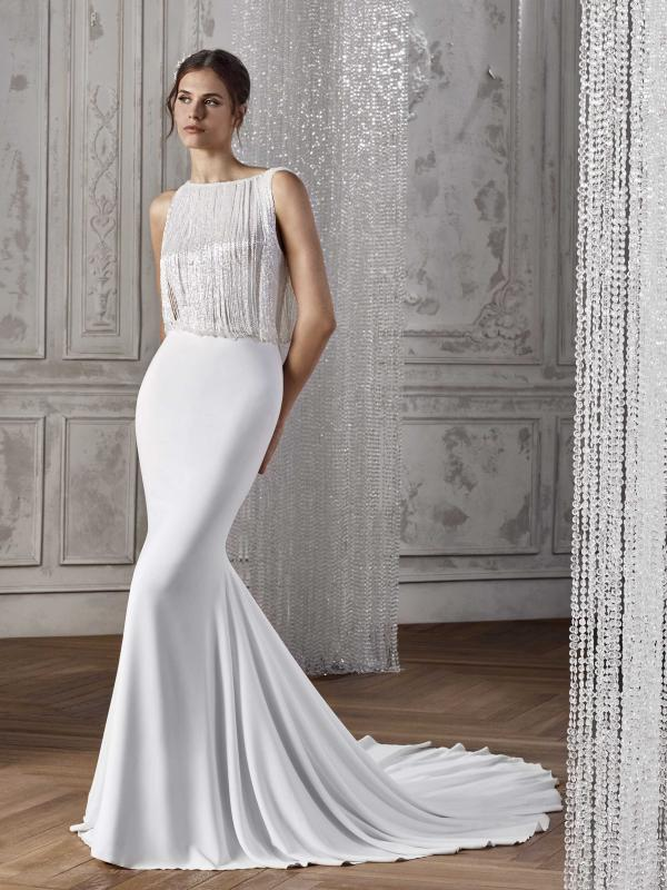 KAREL ST PATRICK STUDIO 2019 OFF WHITE WEDDING DRESS LUV BRIDAL AUSTRALIA