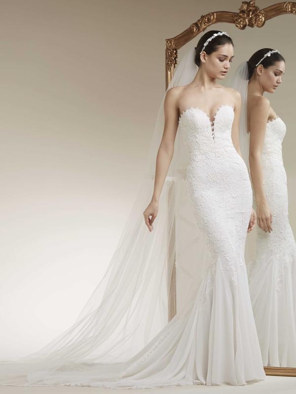 e007b8b4c853 KARYN. View. ZANDURI long sleeve lace wedding dress sheer fitted luv bridal  st patrick pronovias