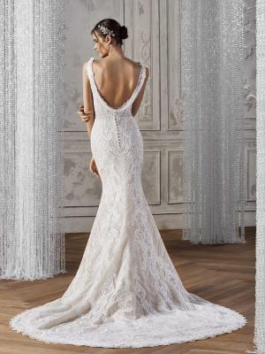 KELDA BACK ST PATRICK STUDIO 2019 OFF WHITE WEDDING DRESS LUV BRIDAL AUSTRALIA