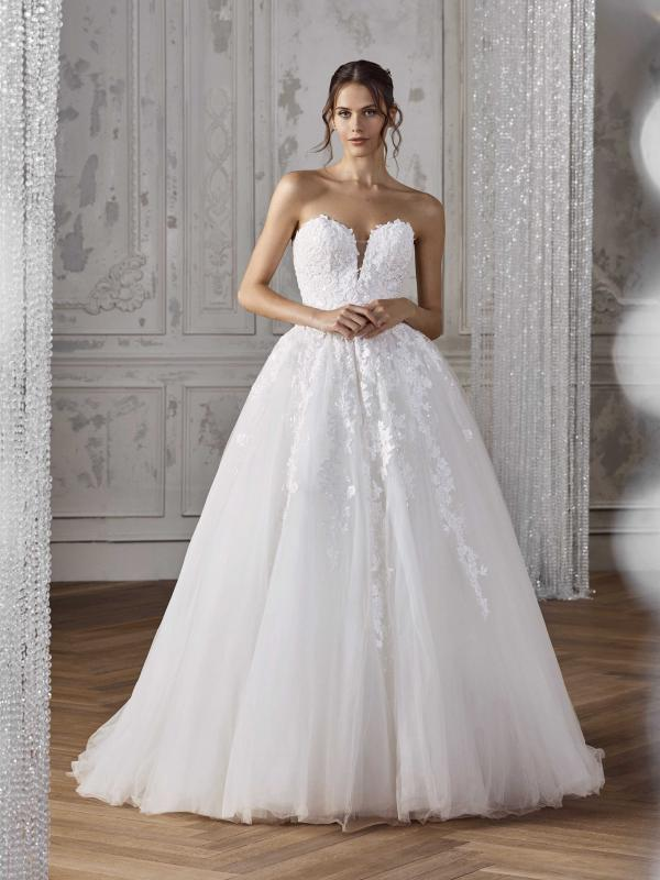 b78c44c3c7cf8 KENYA. View. ZECILE strapless sweetheart lace ballgown wedding dress st  patrick ...