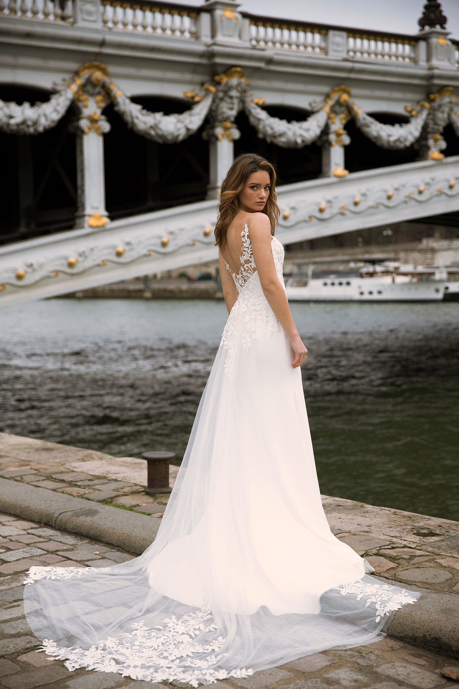 FERNE-ML0435-V-NECKLINE-FRONT-AND-BACK-FITTED-CREPE-GOWN-WITH-BEADED-SECTIONS-AND-SHOULDER-BEAD-TASSLES-WEDDING-DRESS-MADI-LANE-BRIDAL5