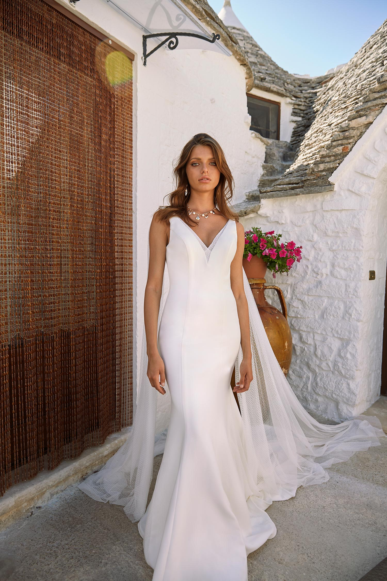 MORAN-ML12027-CREPE-GOWN-WITH-V-NECK-AND-DETACHABLE-CAPE-WEDDING-DRESS-MADI-LANE-BRIDAL1