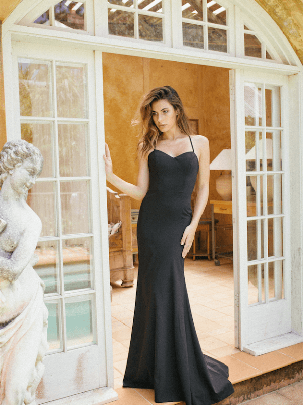 JESSIE-LOW-LACE-UP-CROSS-BACK-FITTED-CREPE-FULL-LENGTH-FORMAL-GOWN-FRONT-600×800-opt