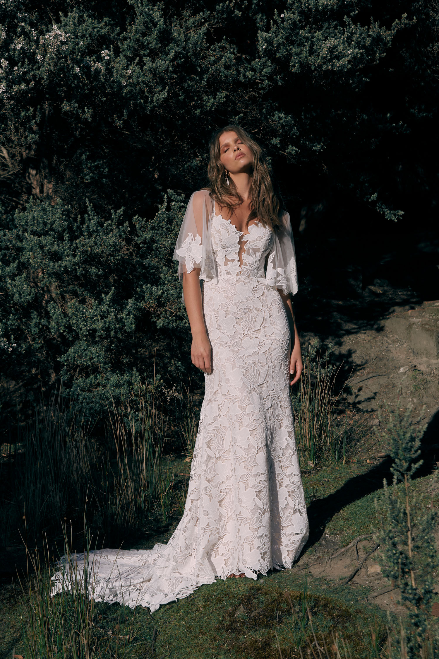 CARLYLE-ML20072-FULL-LENGTH-EMBROIDERED-LACE-FITTED-GOWN-PLUNGING-NECKLINE-THIN-STRAPS-DETACHABLE-MATCHING-LACE-CAPE-INCLUDED-ZIPPER-CLOSURE-WEDDING-DRESS-MADI-LANE-BRIDAL-1-1